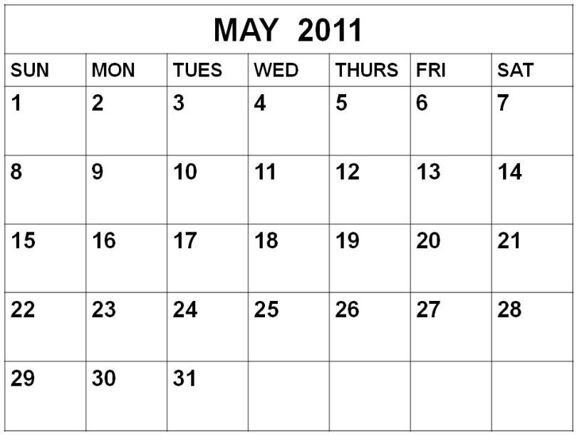april and may 2011 calendar printable. Printable Calendar 2011 2012